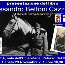 Presentazione del libro dedicato a Alessandro Bettoni Cazzago a Brescia