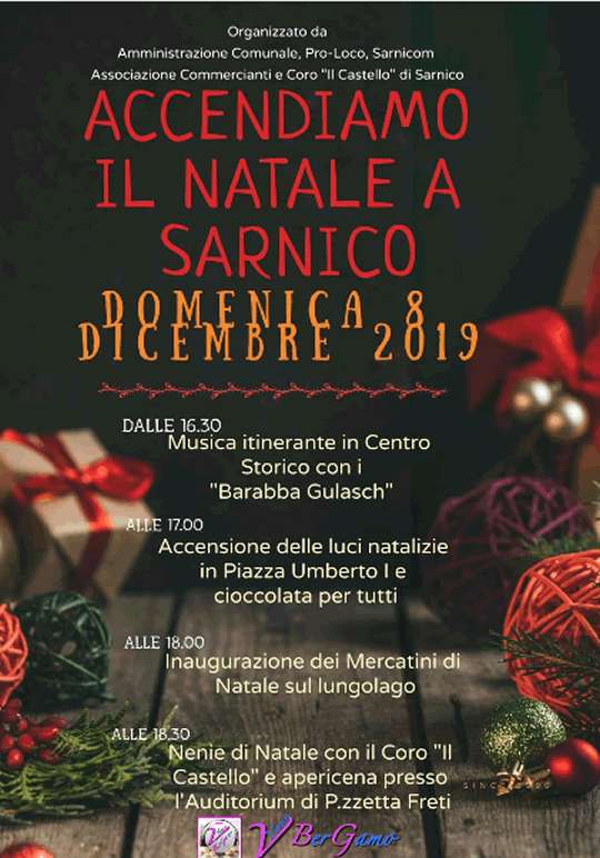 Accendiamo il Natale a Sarnico