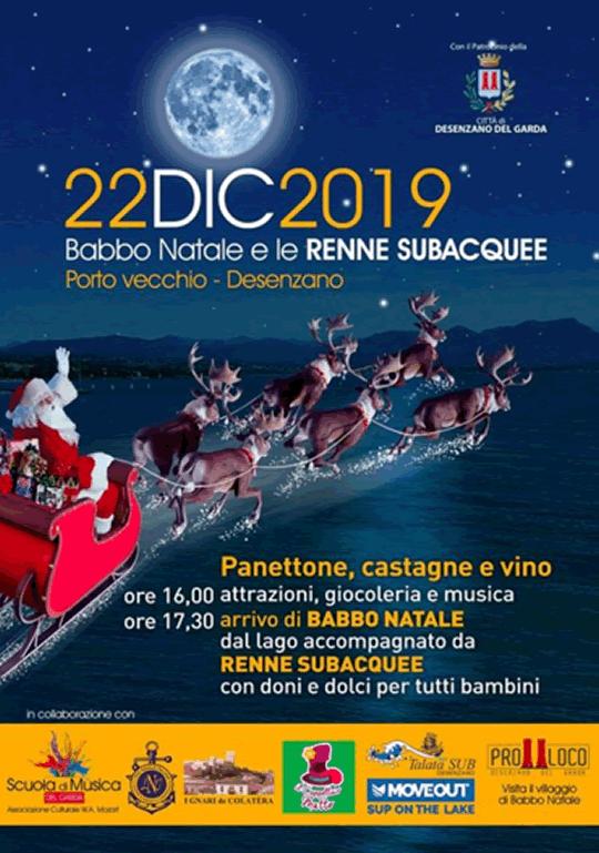 Babbo Natale e le Renne Subaquee a Desenzano