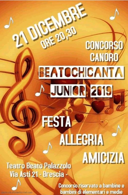 Beato chi canta junior a Brescia