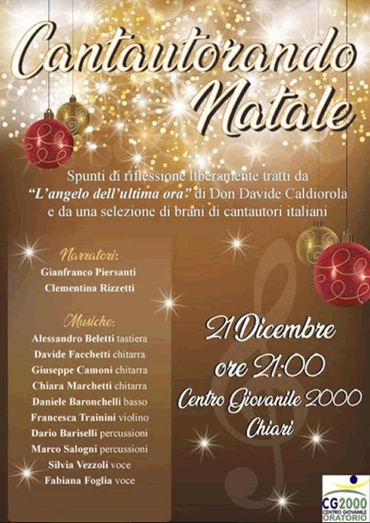 Cantautorando Natale a Chiari