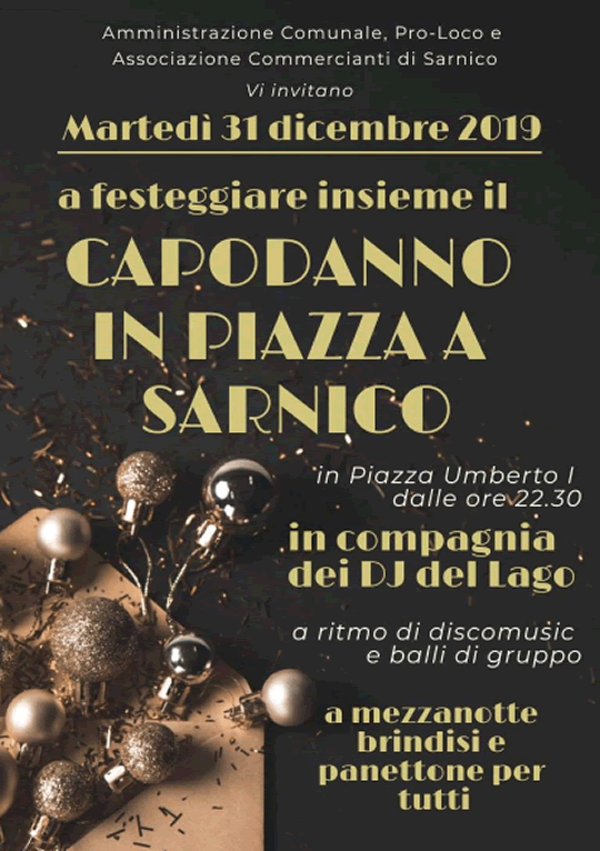 Capodanno in Piazza a Sarnico
