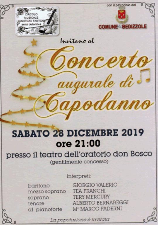 Concerto Augurale di Capodanno a Bedizzole