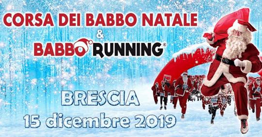 Corsa dei Babbo Natale a Brescia