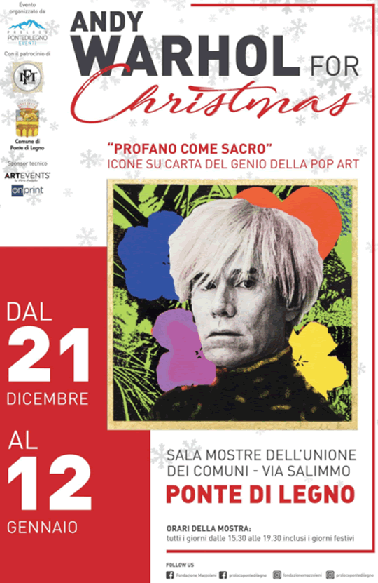 Andy Warhol for Christmas a Ponte di Legno