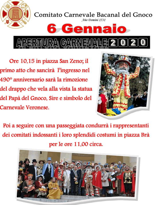 Apertura Carnevale a Verona