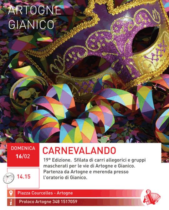 Carnevalando ad Artogne e Gianico
