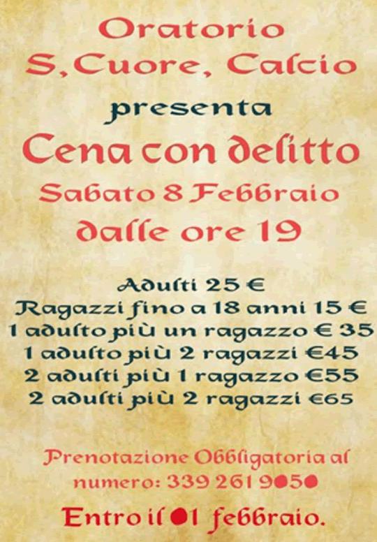 Cena con Delitto a Calcio BG