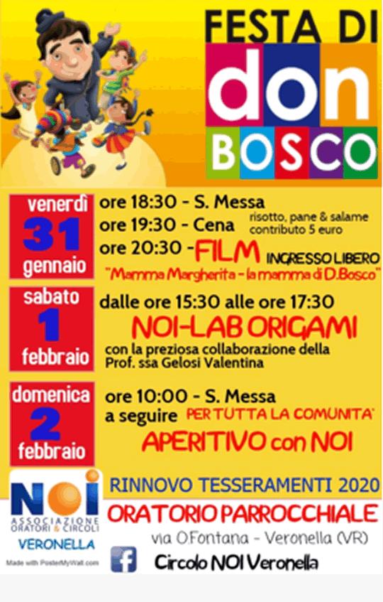Festa di Don Bosco a Veronella