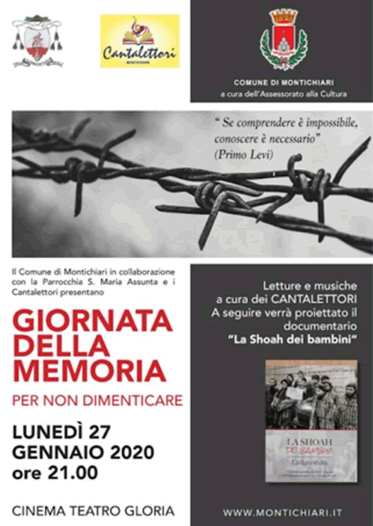 Giornata della Memoria a Montichiari