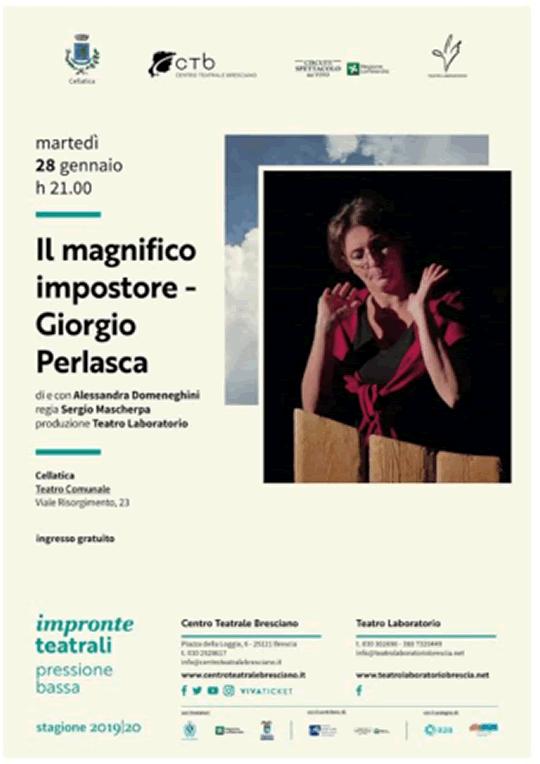 Il magnifico impostore: Giorgio Perlasca a Cellatica