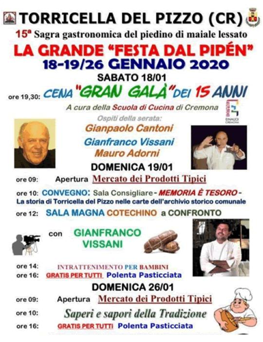 La Grande Festa dal Pipèn a Torricella del Pizzo CR