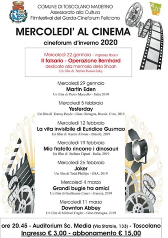 Mercoledì al cinema a Toscolano Maderno