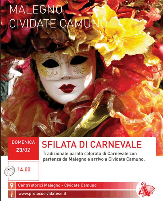 Sfilata di Carnevale Malegno Cividate Camuno