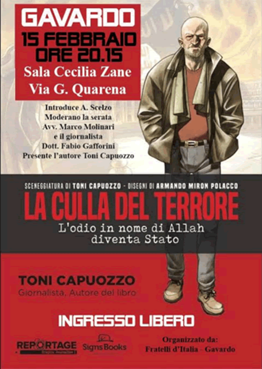Toni Capuozzo che presenta il libro La culla del terrore a Gavardo