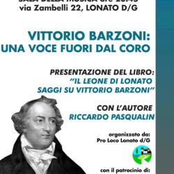 Vittorio Barzoni una voce fuori dal coro a Lonato