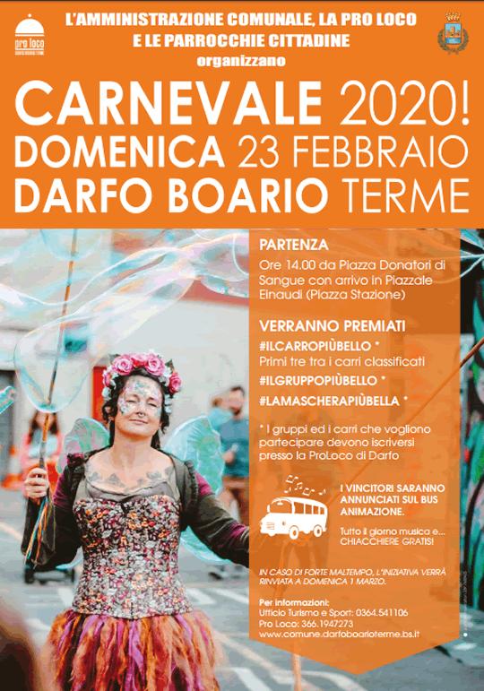 Carnevale 2020 a Darfo Boario Terme
