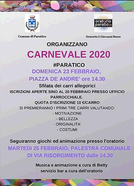 Carnevale 2020 a Paratico