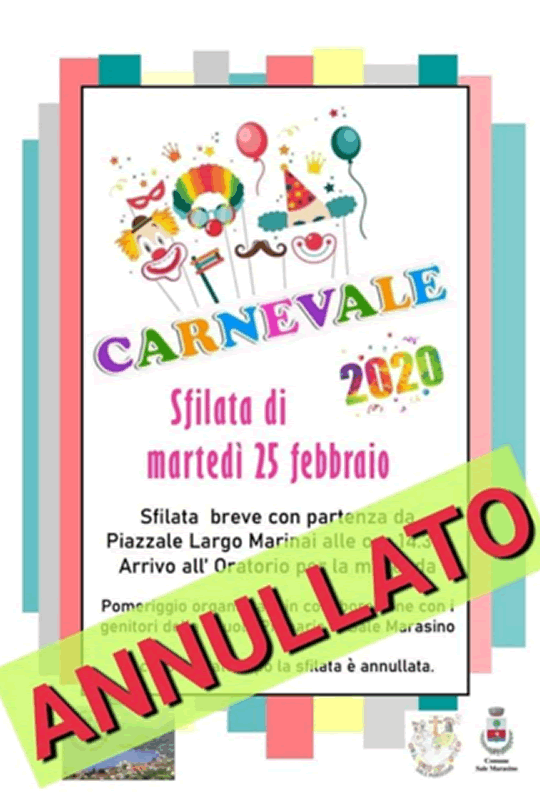 Carnevale 2020 a Sale Marasino