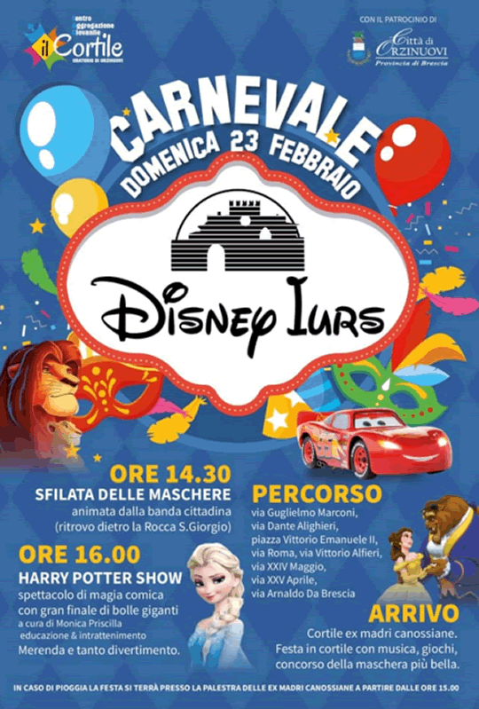 Carnevale Disney Iurs Orzinuovi