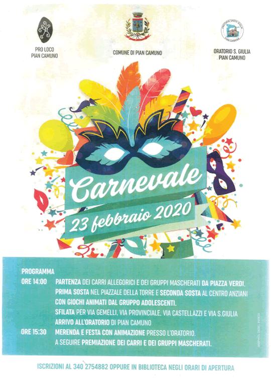 Carnevale a Pian Camuno