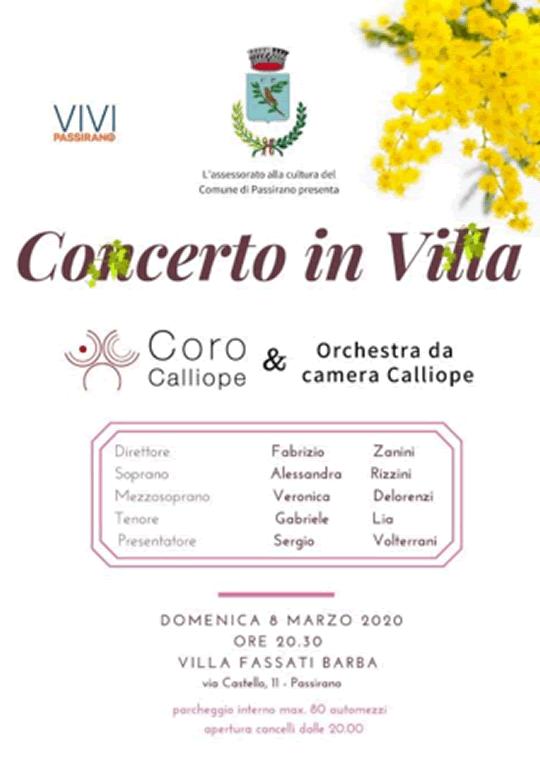 Concerto in Villa a Passirano