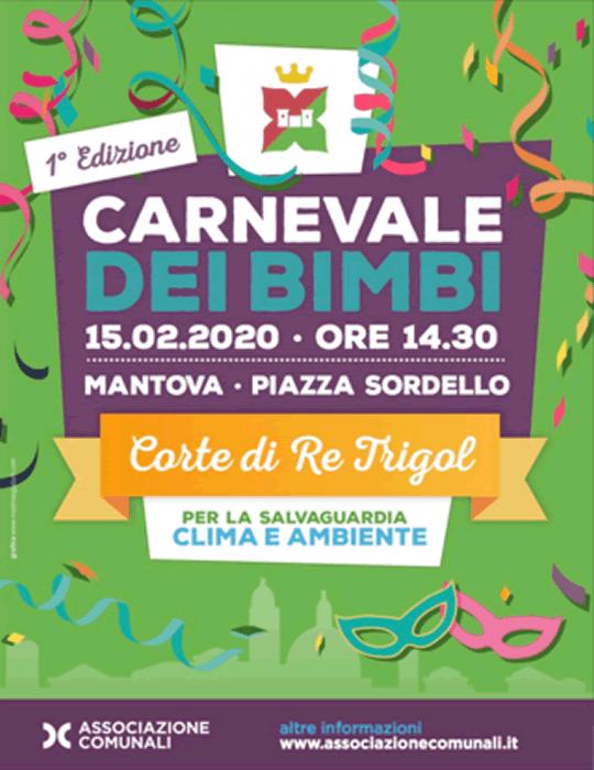 Corte di Re Trigol Carnevale dei Bimbi a Mantova