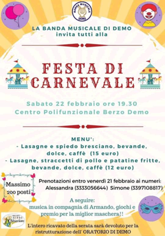 Festa di Carnevale a Berzo Demo