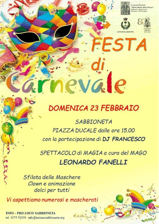Festa di Carnevale a Sabbioneta