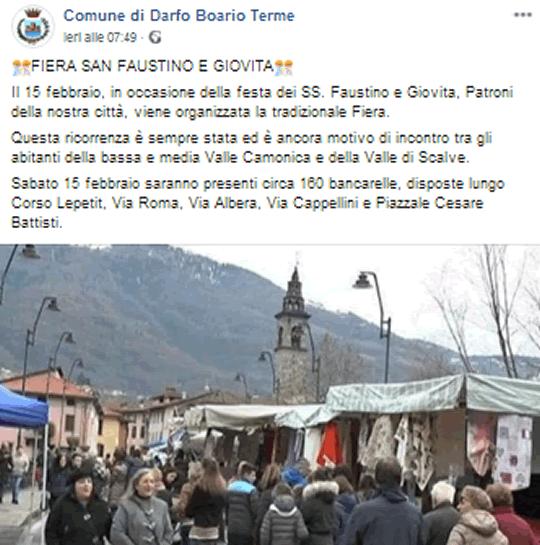 Fiera di San Faustino e Giovita a Darfo Boario Terme