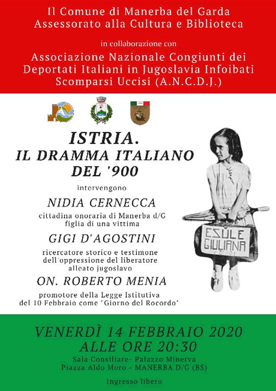 Istria il Dramma Italiano del '900 a Manerba del Garda
