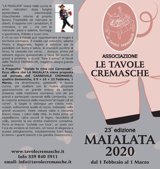 Maialata 2020 a Crema