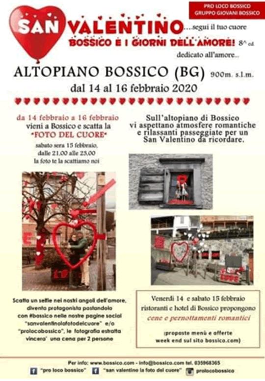 San Valentino Bossico e i Giorni dell'Amore BG