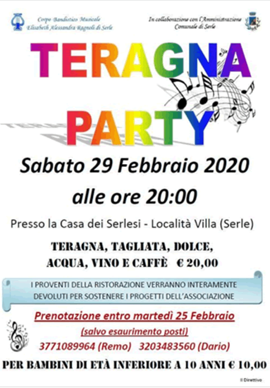 Teragna Party a Serle