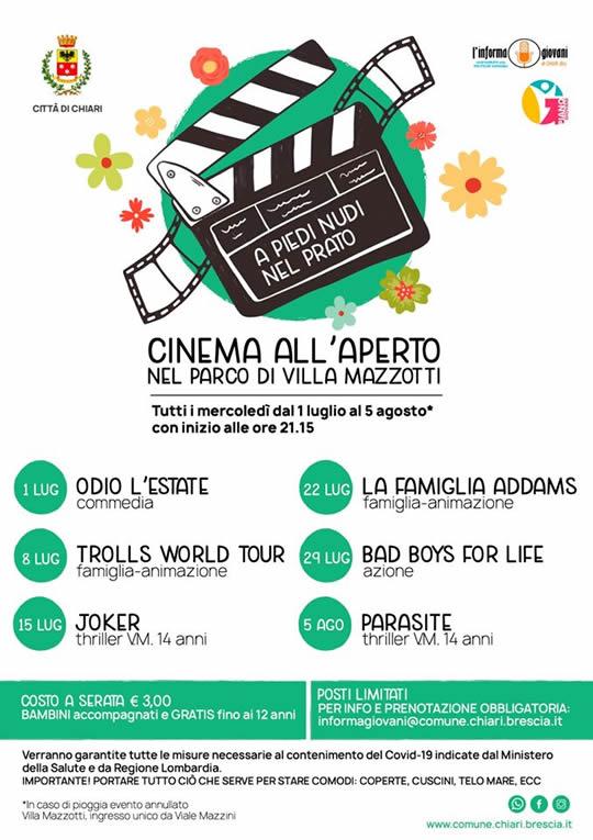cinema all'aperto a Chiari