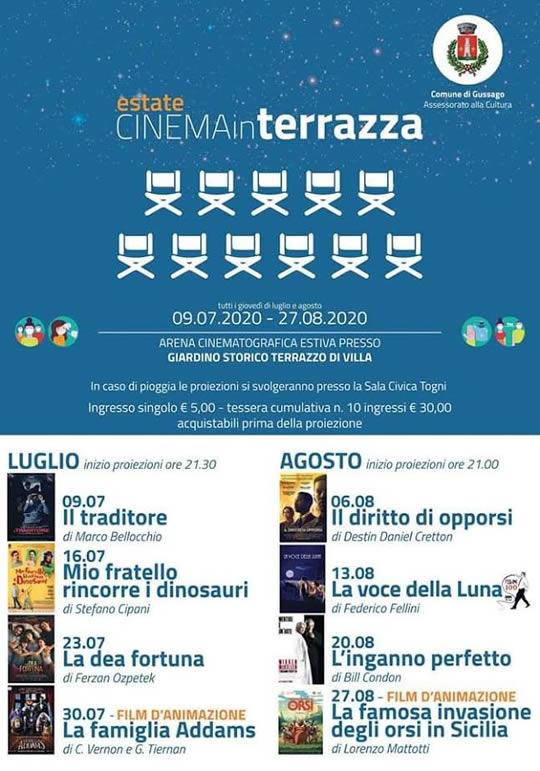 cinema in terrazza a Gussago
