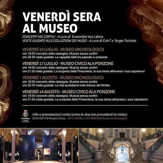 venerdi sera al museo di Cremona