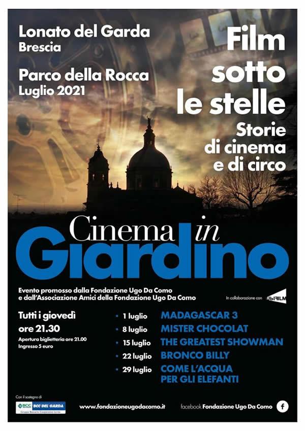 cinema in giardino a Lonato