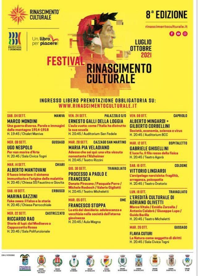Locandina Festival Rinascimento Culturale 2021