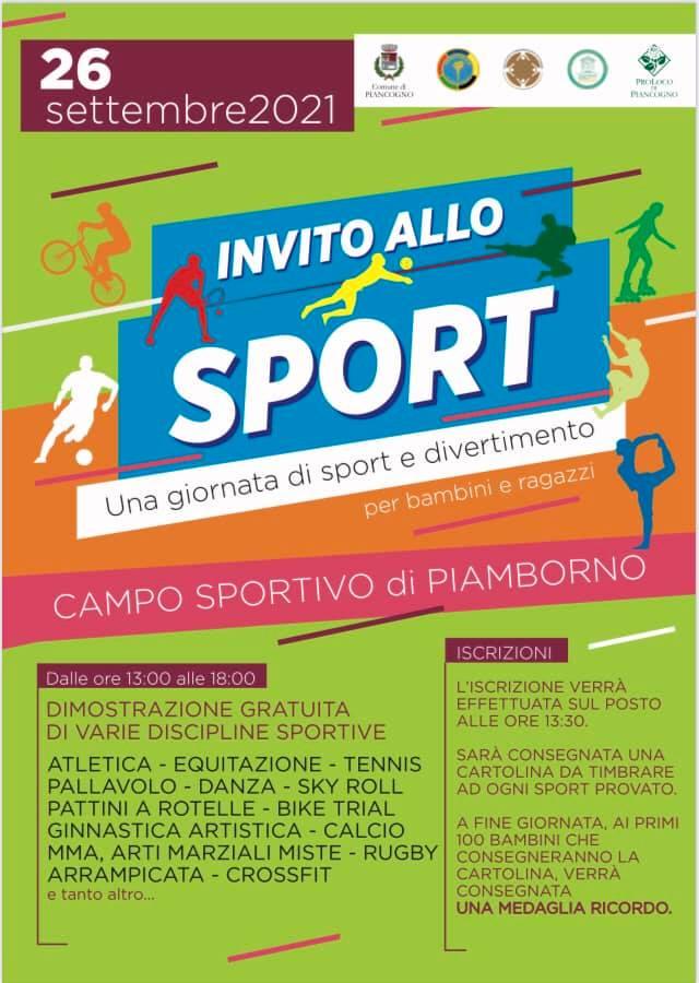 Invito allo sport a Piancogno