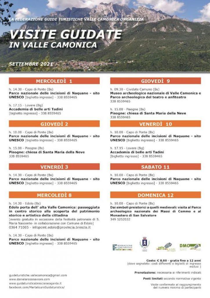 valcamonica - visite guidate settembre