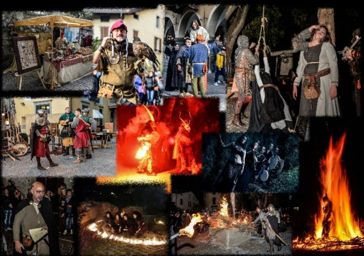 immagini della festa medievale di Borno